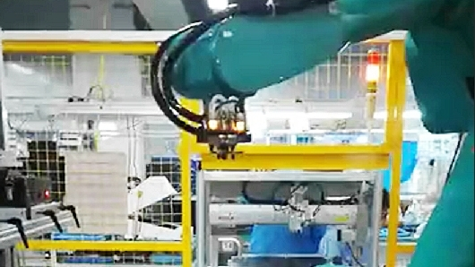 德宏CCD引导6轴机器人定位抓取